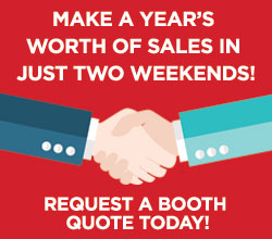 Make a year's worth of sales in just two weekends